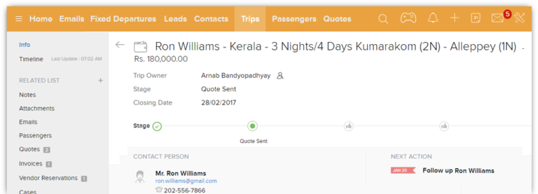 crm for travel agency
